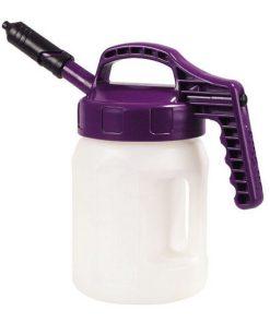 OilSafe deksel korte tuit mini paars op drum