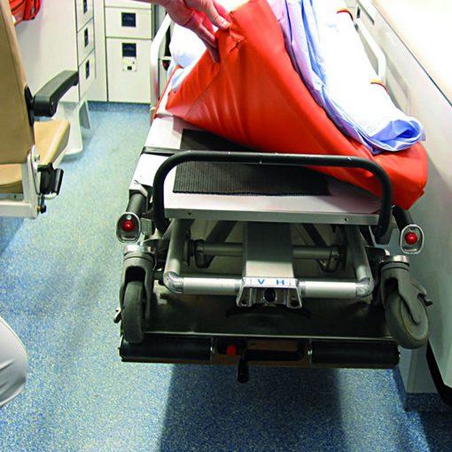 antislipmat in gebruik in ambulance voor stabiel matras
