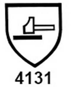 veiligheidscode schild 4131 voor monteurshandschoen