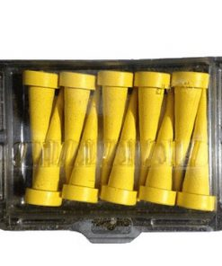 gele servicepluggen 10 stuks zelfde maat in plastic verpakking
