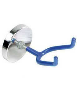ronde magneet met blauwe haak voor het ophangen vangereedschap