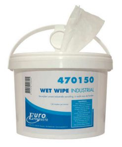 Wet wipe industrial handcleaner doekjes in emmer