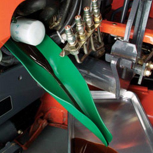 form-a-funnel flexibel trechter in gebruik bij machine