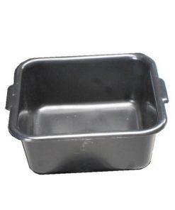 vierkante lekbak met inhoud van 9 liter