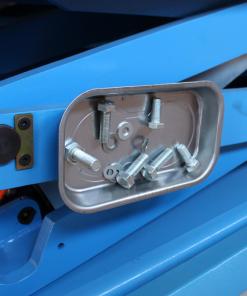 magneetschaal in gebruik op machine