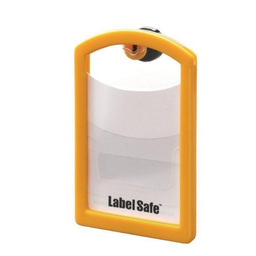 geel labelframe van LabelSafe met pocket
