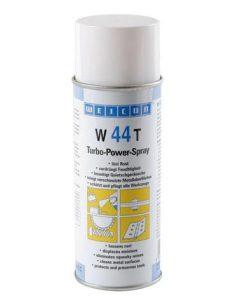 witte spuitbus met turbo power spray W44T, alternatief voor WD40