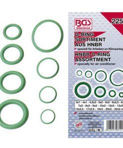 voorzijde assortimentsdoos airco ringen HNBR met enkele losse groene ringen ernaast