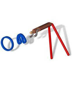 tekening van sealtwister tangenset waarbij de o-ring in ronde en gebogen vorm getekend is