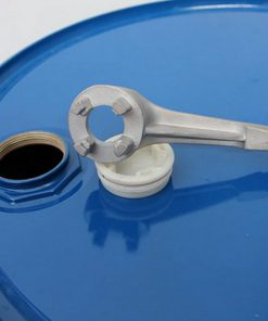 vatenopener op drum met geopende dop