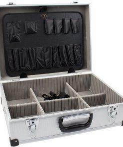 aluminium koffer geopend