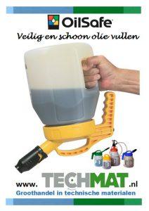 OilSafe veilig en schoon olie vullen