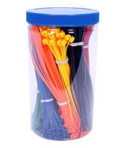 plastic emmer met assortiment bundelbandjes