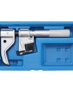 blauwe kunststof box met universele schroefdraad frees voor metrisch en inch schroefdraad