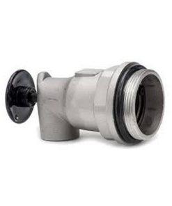 aluminium vatkraan met push button, zelfsluitend met nitrile rubberen pakking