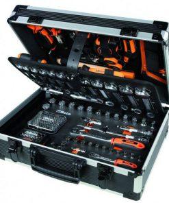 assortiment gereedschap voor algemeen onderhoud in kunststof gereedschapskoffer van beta easy