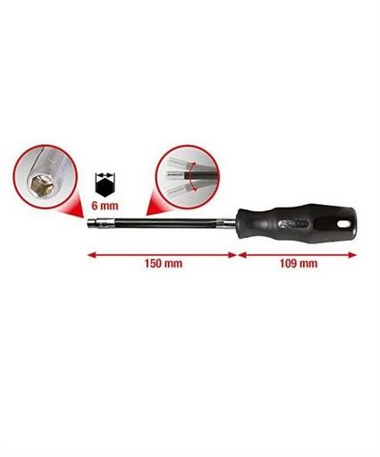 ks tools dopschroevendraaier m6 met afmetingen erbij