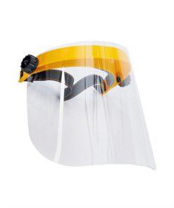 spatscherm gezichtsbeschermer met elastische hoofdband